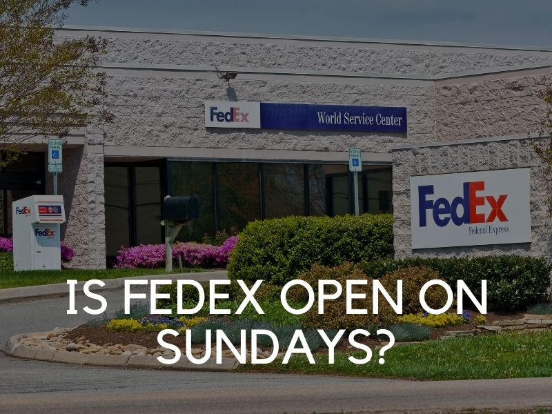 does fedex ground deliver on sunday
